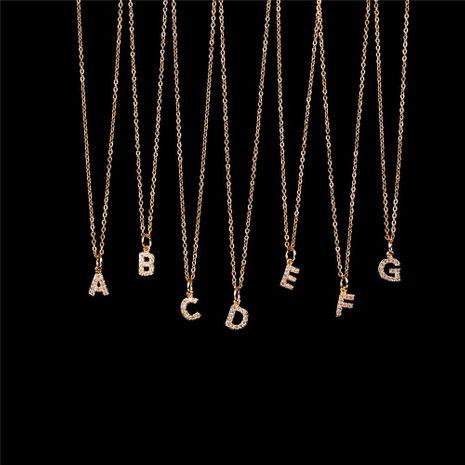 Nouvelle Mode 26 Alphabet Anglais Pendentif Collier Diamant Clavicule Chaîne En Gros NHPY209799's discount tags