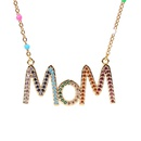 Mothers Day Gift Wholesale New Fashion Dripping Necklace with Diamond Mom Letter Necklace NHPY209808