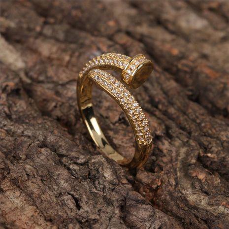 Nouvelle bague à ongles de mode avec zircon anneau ouvert en gros NHPY209819's discount tags