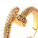 New fashion nail ring with zircon open ring wholesale NHPY209819