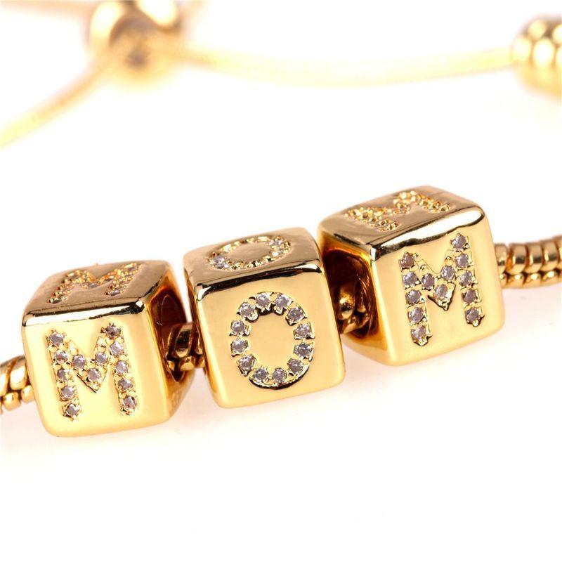 New fashion Rubik39s cube large hole bead snake bone bracelet mother39s day gift zircon bracelet wholesale NHPY209824