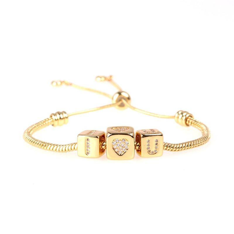 Nueva Moda Cubo de Rubik Big Hole Bead Snake Bracelet Diamond Love Love Bracelet Wholesale NHPY209825