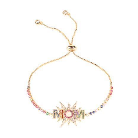 New Fashion Letters MOM Mother's Day Bracelet Mother's Day Jewelry Gift Wholesale NHPY209834's discount tags