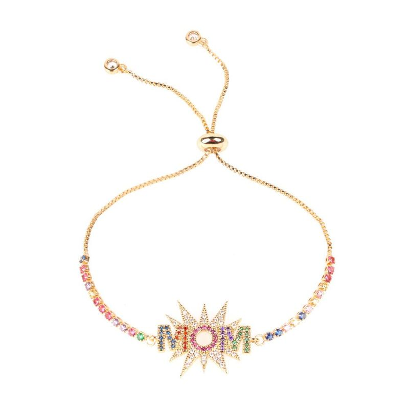 New Fashion Letters MOM Mother39s Day Bracelet Mother39s Day Jewelry Gift Wholesale NHPY209834