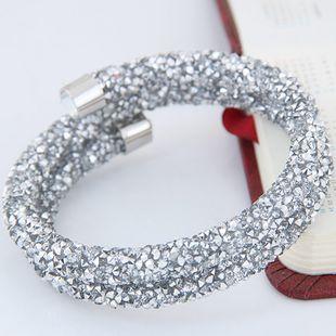 Nueva moda brillante luz doble pulsera de apertura yiwu nihaojewelry al por mayor NHSC210073's discount tags