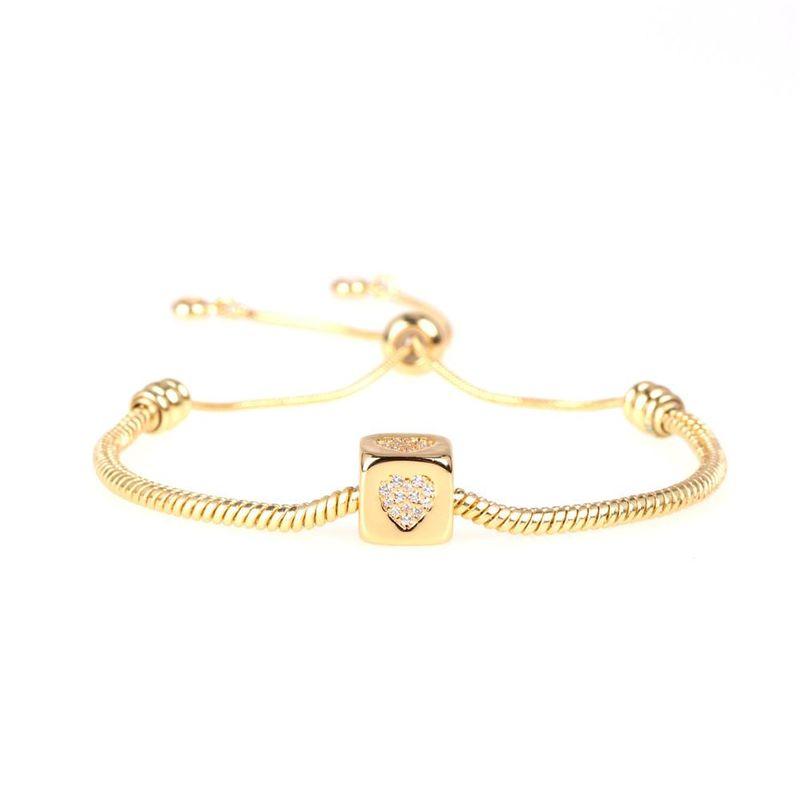 Nueva pulsera de diamantes de moda Love Rubik's Cube Large Hole Bead Snake Bracelet Wholesale NHPY209839
