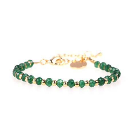Nouvelle Mode Pierre Naturelle Mixte Couleur Bracelet Perlé Plaqué Cuivre Véritable Bracelet En Or En Gros NHPY209849's discount tags