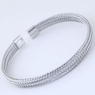 Metal simple pulsera de apertura yiwu nihaojewelry al por mayor NHSC210071's discount tags