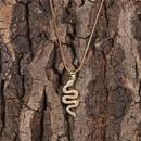 Nouveau mode microensemble zircon collier hip hop tendance esprit serpent pendentif collier en gros NHPY209866