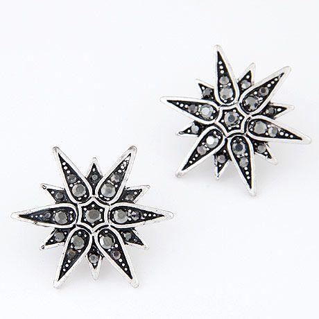 Korean fashion retro shine sun flower earrings yiwu nihaojewelry wholesale NHSC210064's discount tags