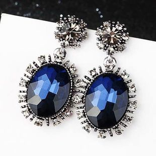 Fashion retro baroque gorgeous gems exaggerated earrings yiwu nihaojewelry wholesale NHSC210052's discount tags