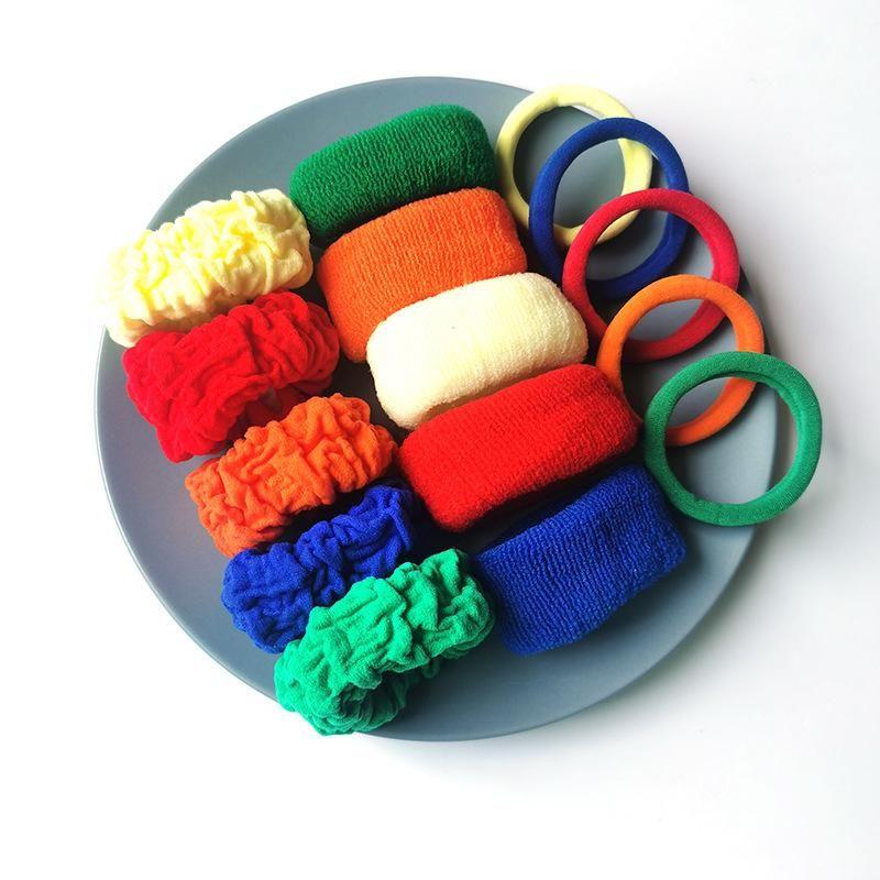 5 pieces of new fashion color cheap scrunchies set wholesale NHSA209659