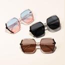 Polygon big frame Korean sunglasses fashion color sunglasses NHXU209891