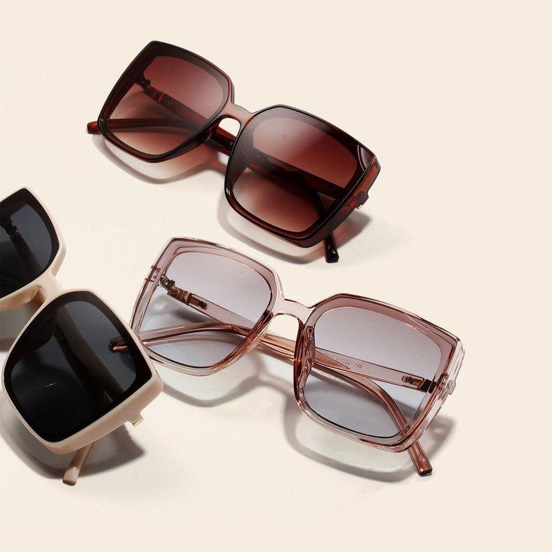 Korean new fashion big square sunglasses retro glasses NHXU209895