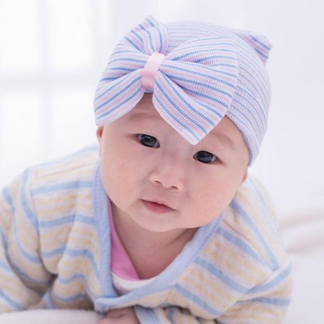 New knitted big bow baby hat wholesale NHDM209944's discount tags