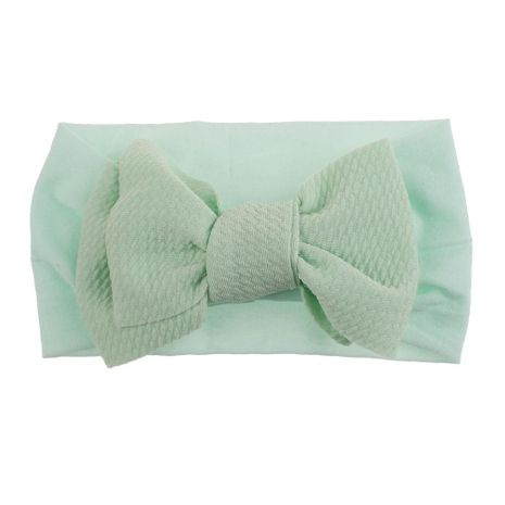 Knotted children's bowknot nylon headband soft elastic infant baby hair accessories stockings headband NHDM209945's discount tags