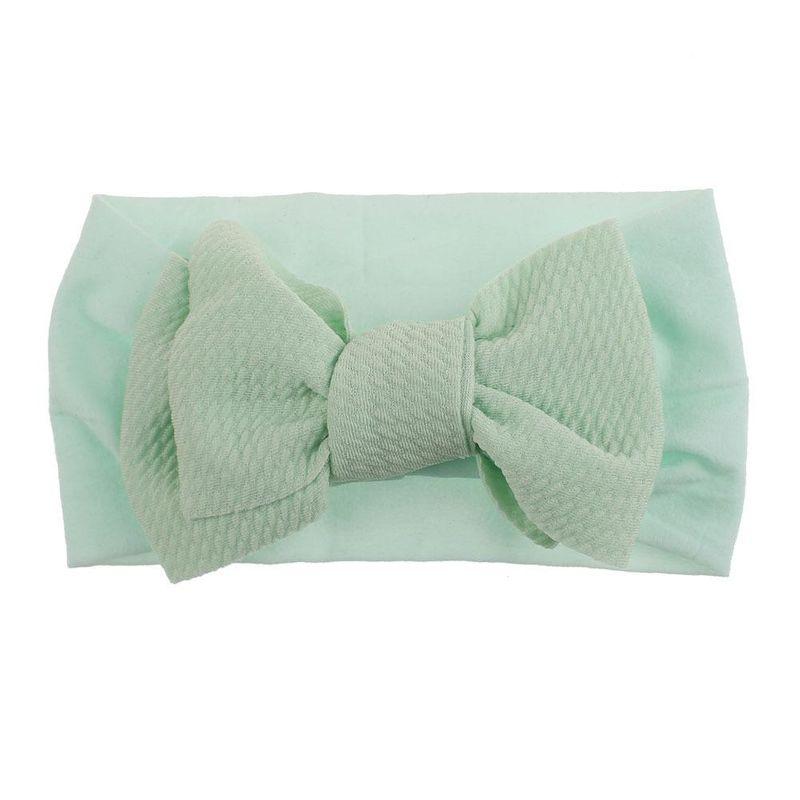 Knotted children's bowknot nylon headband soft elastic infant baby hair accessories stockings headband NHDM209945