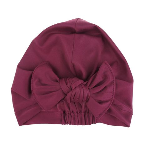 Children's swimming cap bowknot hat good elasticity solid color printing baby swimming cap NHDM209958's discount tags