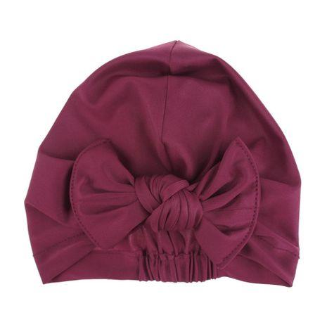 Gorro de baño para niños sombrero de bowknot buena elasticidad impresión en color sólido gorro de baño para bebés NHDM209958's discount tags