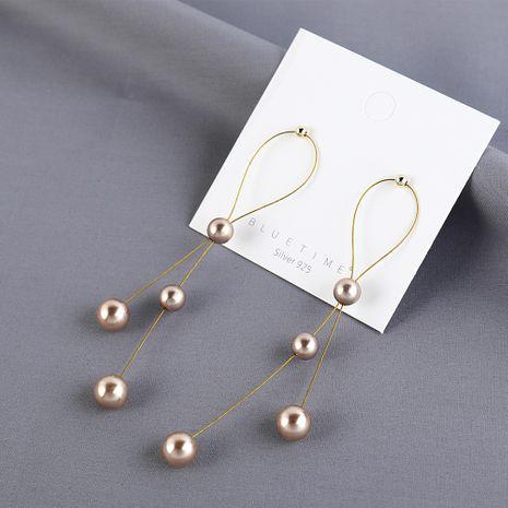 Coréen plaqué or rétro long gland perle S925 argent aiguille boucles d'oreilles yiwu nihaojewelry gros NHPS209996's discount tags