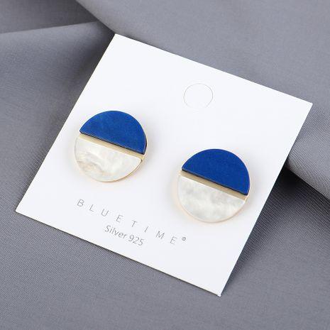 Nouveau véritable plaqué or simple mode sauvage petit disque S925 argent aiguille boucles d'oreilles yiwu nihaojewelry gros NHPS209999's discount tags