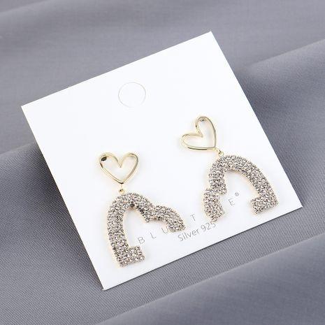 Véritable plaqué or mode amour S925 argent aiguille boucles d'oreilles yiwu nihaojewelry gros NHPS210000's discount tags