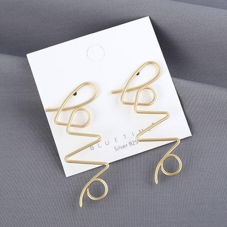 Le nouveau véritable plaqué or sauvage exagéré boucles d'oreilles aiguille en argent S925 yiwu nihaojewelry gros NHPS210001's discount tags