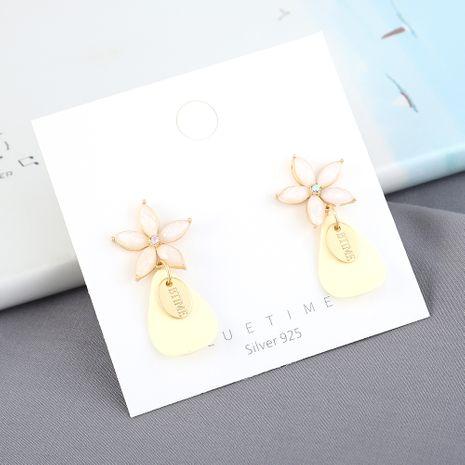 Mode coréenne sauvage dépoli petite fleur S925 boucles d'oreilles aiguille d'argent yiwu nihaojewelry gros NHPS210002's discount tags