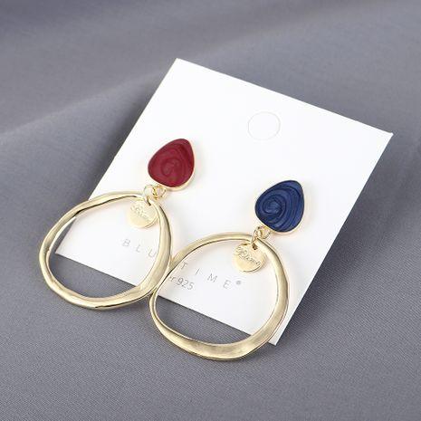 Nouveau véritable plaqué or sauvage populaire simple creux S925 argent boucles d'oreilles aiguille yiwu nihaojewelry gros NHPS210003's discount tags