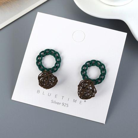 Coréen nouveau véritable plaqué or sauvage mode mat creux S925 argent aiguille boucles d'oreilles yiwu nihaojewelry gros NHPS210004's discount tags