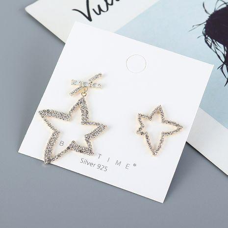 Nouvelle mode asymétrique mode étoiles S925 argent aiguille boucles d'oreilles yiwu nihaojewelry gros NHPS210005's discount tags