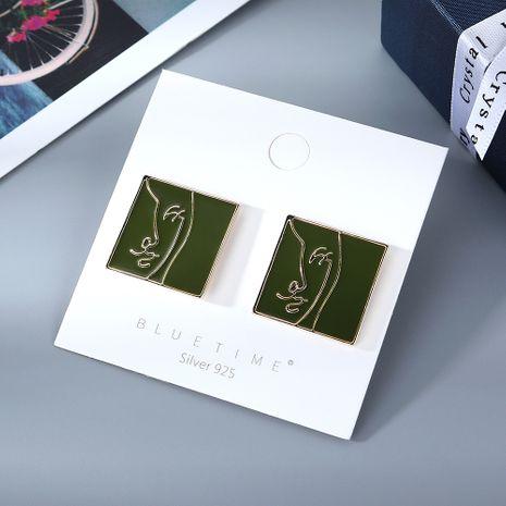 Mode coréenne simple créative huile S925 argent aiguille boucles d'oreilles yiwu nihaojewelry gros NHPS210007's discount tags