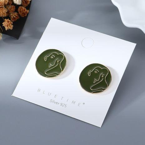 Coréenne nouvelle mode simple nouvelle sauvage créative huile S925 argent aiguille boucles d'oreilles yiwu nihaojewelry gros NHPS210008's discount tags