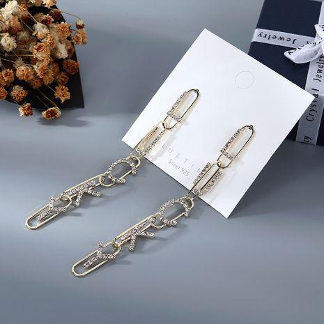 Nouveau gland de mode longue exagéré lettres classiques S925 boucles d'oreilles aiguille d'argent yiwu nihaojewelry gros NHPS210009's discount tags