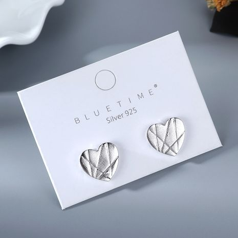 Nouvelle mode pur plaqué or simple amour S925 boucles d'oreilles aiguille d'argent yiwu nihaojewelry gros NHPS210012's discount tags