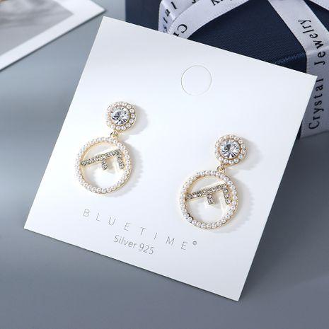Nouvelle mode classique lettres populaire perle S925 argent aiguille boucles d'oreilles yiwu nihaojewelry gros NHPS210088's discount tags
