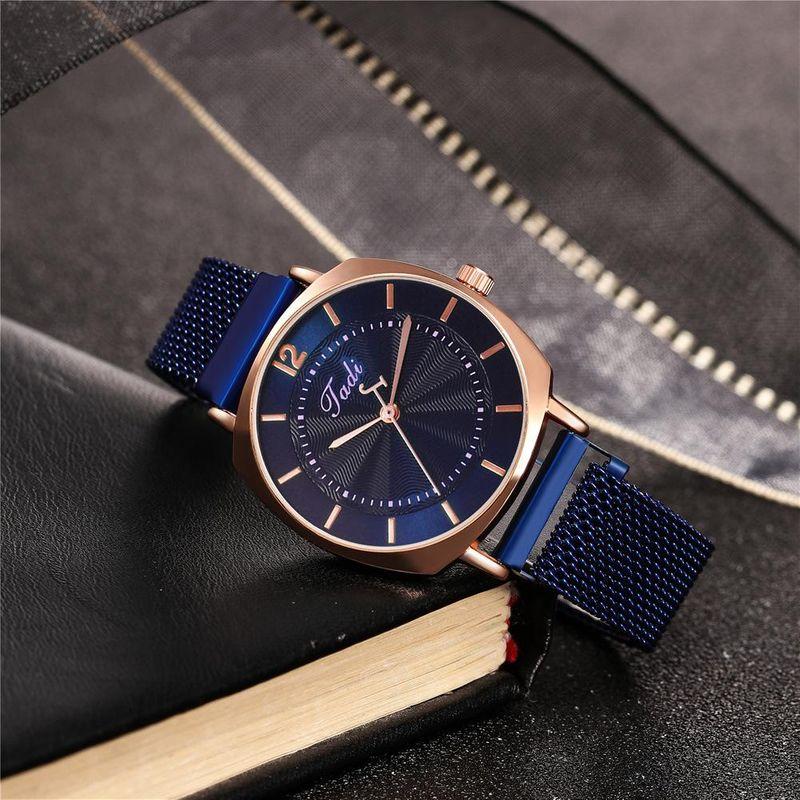New watch Roman scale fashion square shell magnet buckle alloy mesh belt quartz watch NHHK210093