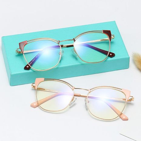 New comfortable metal glasses fashion wild anti-blue light retro glasses wholesale NHFY210123's discount tags