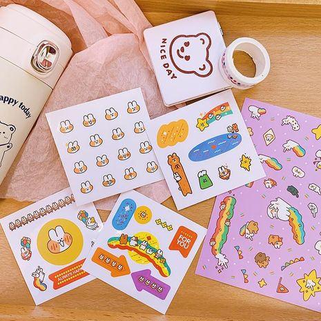 Cute hand account cartoon sticker separate storage box water cup mobile phone shell decorative material stickers NHZE210135's discount tags