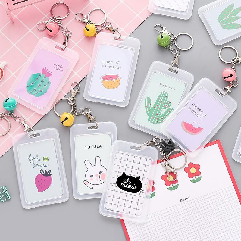 New transparent card sleeve protective cover cute creative bank card hard shell NHZE210167