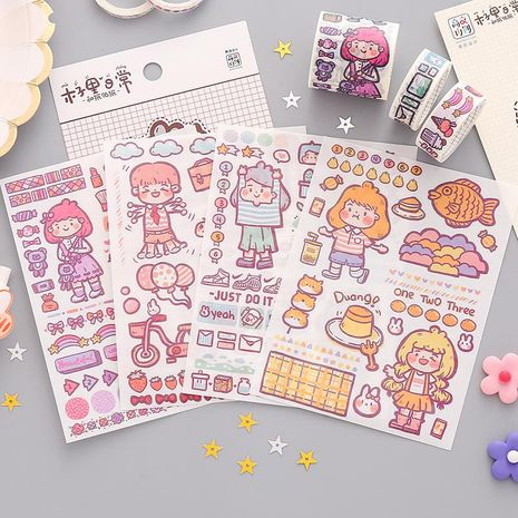 Cute hand account stickers cartoon mobile phone decoration material small stickers wholesale NHZE210168's discount tags