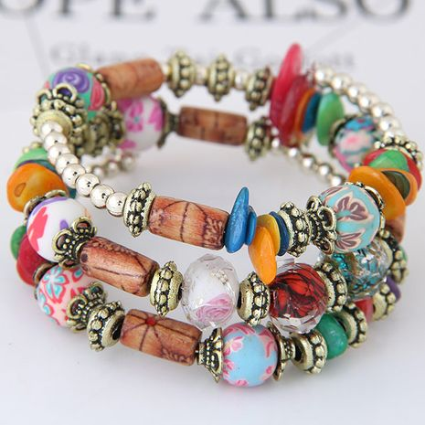 New fashion bohemian style shell accessories mix and match multi-layer bracelet yiwu nihaojewelry wholesale NHSC210477's discount tags