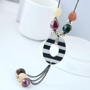 Nueva moda simple y dulce cuentas de caramelo salvaje borla collar largo yiwu nihaojewelry al por mayor NHSC210475's discount tags