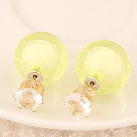 New fashion wild flash diamond irregular candy color ball beads wild earrings yiwu nihaojewelry wholesale NHSC210472's discount tags