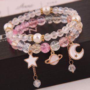 Mode coréenne simple et polyvalent multi-élément pendentif cristal boule de verre perle mode double couche bracelet yiwu nihaojewelry gros NHSC210470's discount tags