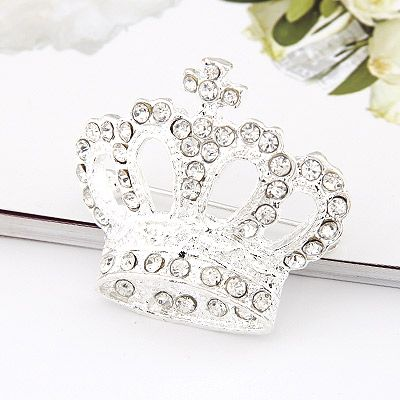 Korean fashion flash diamond crown brooch yiwu nihaojewelry wholesale NHSC210463's discount tags