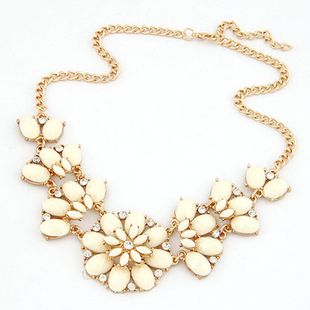 Bohemian metal flower short necklace Yiwu nihaojewelry wholesale NHSC210459's discount tags