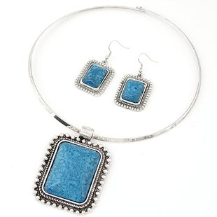 New fashion bohemian gem necklace necklace set yiwu nihaojewelry wholesale NHSC210458's discount tags