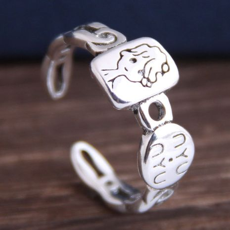 Fashion retro cartoon open ring yiwu nihaojewelry wholesale NHSC210457's discount tags