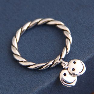 Mode rétro smiley anneau ouvert yiwu nihaojewelry gros NHSC210455's discount tags